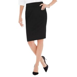 The Limited Professional Black Pencil Skirt 6 P
